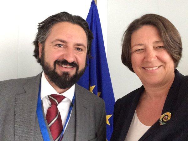 Stefan Blachfellner and Violeta Bulc
